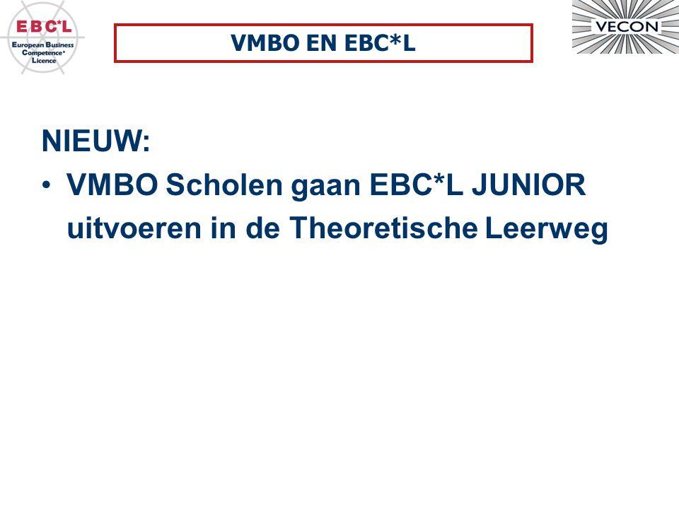 NIEUW: VMBO Scholen gaan EBC*L JUNIOR uitvoeren in de Theoretische Leerweg VMBO EN EBC*L
