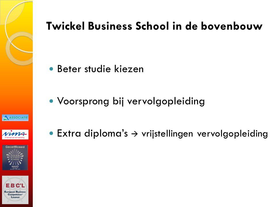 Twickel Business School in de bovenbouw Beter studie kiezen Voorsprong bij vervolgopleiding Extra diploma's  vrijstellingen vervolgopleiding