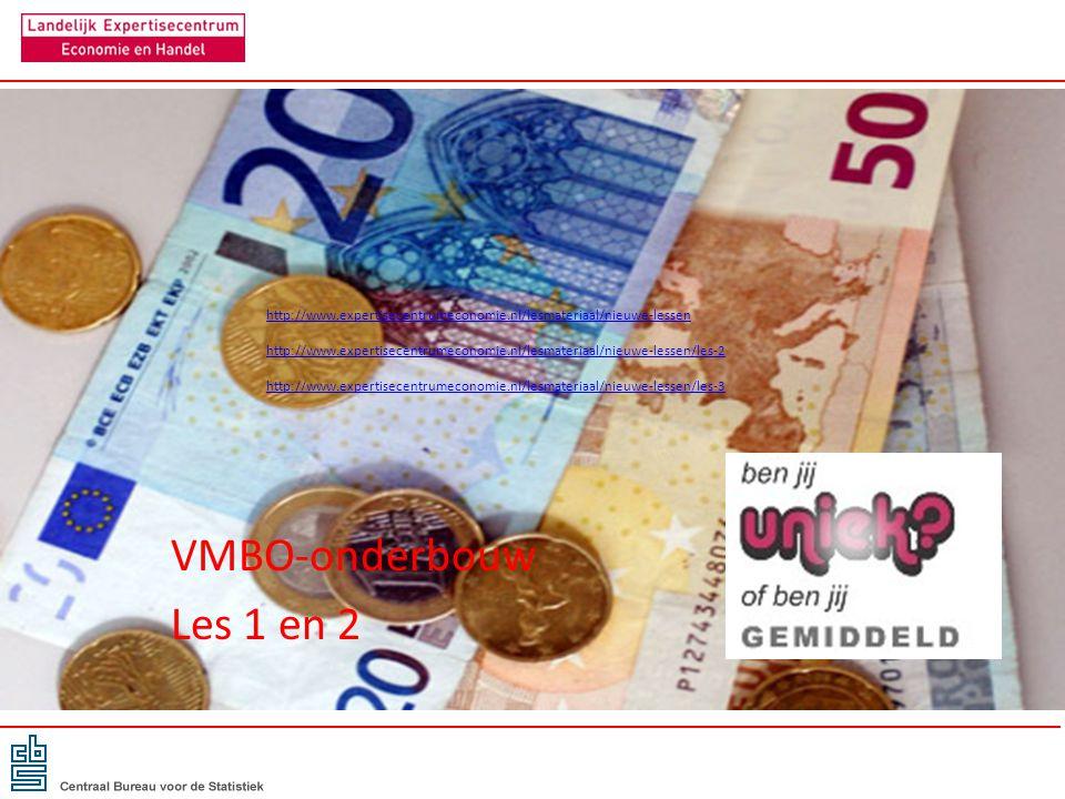 VMBO-onderbouw Les 1 en 2 http://www.expertisecentrumeconomie.nl/lesmateriaal/nieuwe-lessen http://www.expertisecentrumeconomie.nl/lesmateriaal/nieuwe