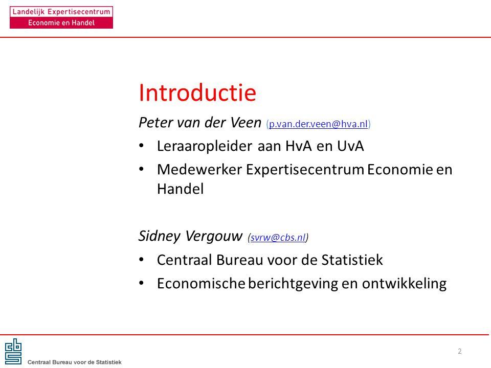 Introductie Peter van der Veen (p.van.der.veen@hva.nl)p.van.der.veen@hva.nl Leraaropleider aan HvA en UvA Medewerker Expertisecentrum Economie en Hand