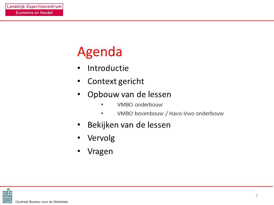Agenda Introductie Context gericht Opbouw van de lessen VMBO onderbouw VMBO bovenbouw / Havo-Vwo onderbouw Bekijken van de lessen Vervolg Vragen 3