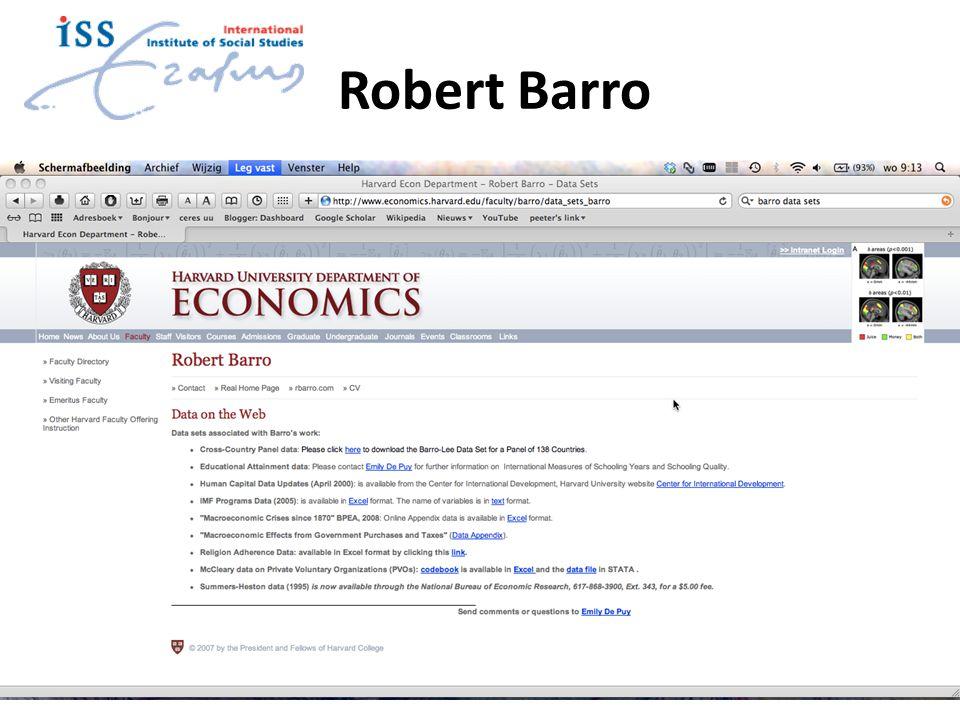 Robert Barro 9/12/2014Bergeijk11