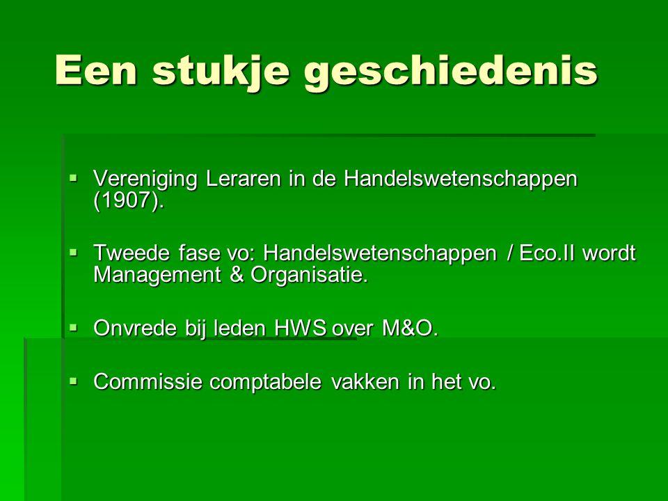 Een stukje geschiedenis Een stukje geschiedenis  Vereniging Leraren in de Handelswetenschappen (1907).