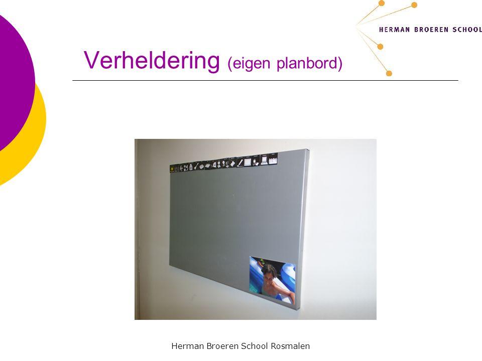 Herman Broeren School Rosmalen Verheldering (eigen planbord)