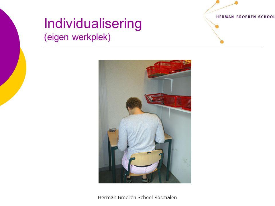 Herman Broeren School Rosmalen Individualisering (eigen werkplek)