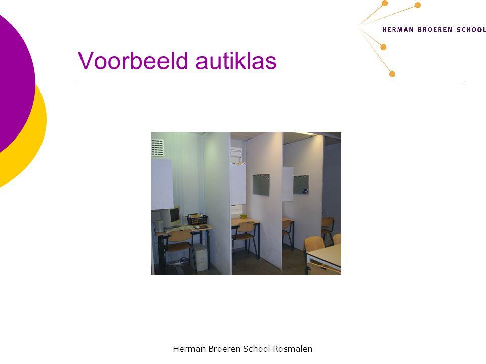 Herman Broeren School Rosmalen Programma  Visie en beleid  Doelgroep  Criteria voor plaatsing  De autiklas
