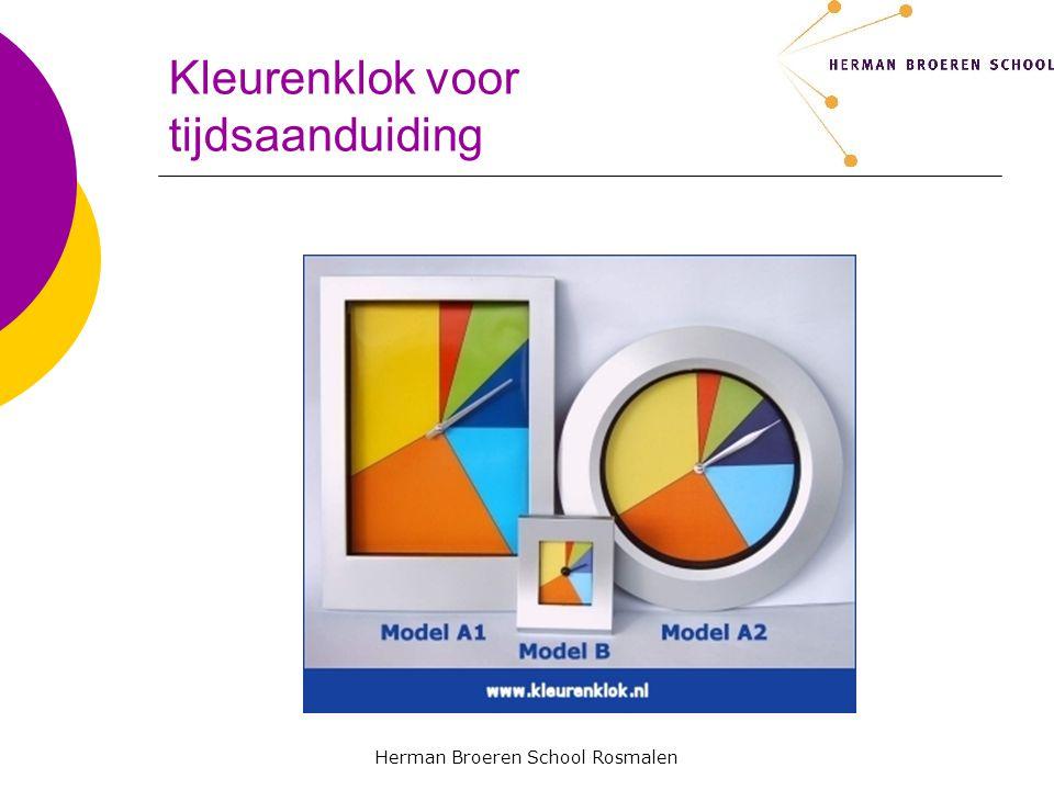 Herman Broeren School Rosmalen Kleurenklok voor tijdsaanduiding