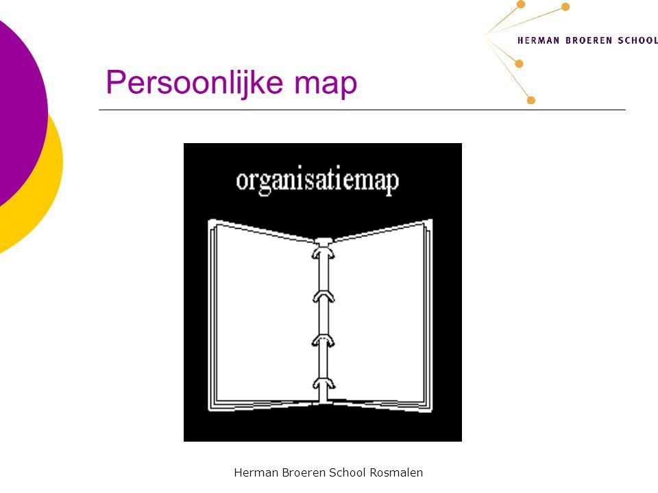 Herman Broeren School Rosmalen Persoonlijke map