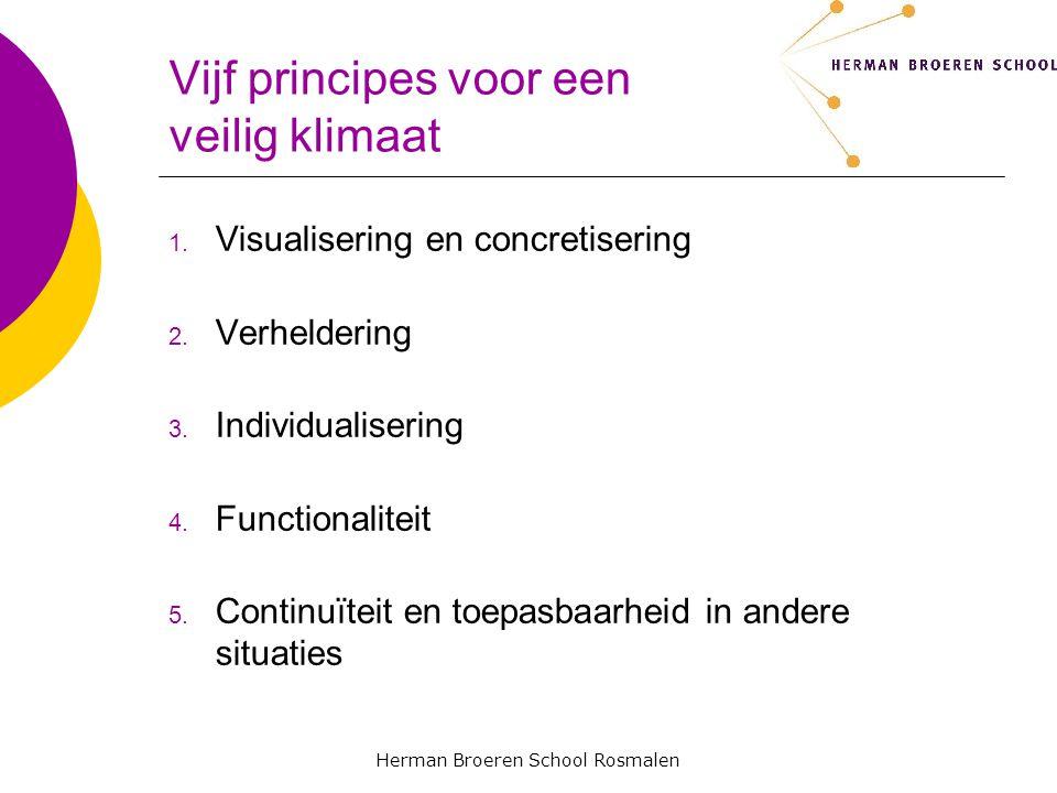 Herman Broeren School Rosmalen Vijf principes voor een veilig klimaat 1.