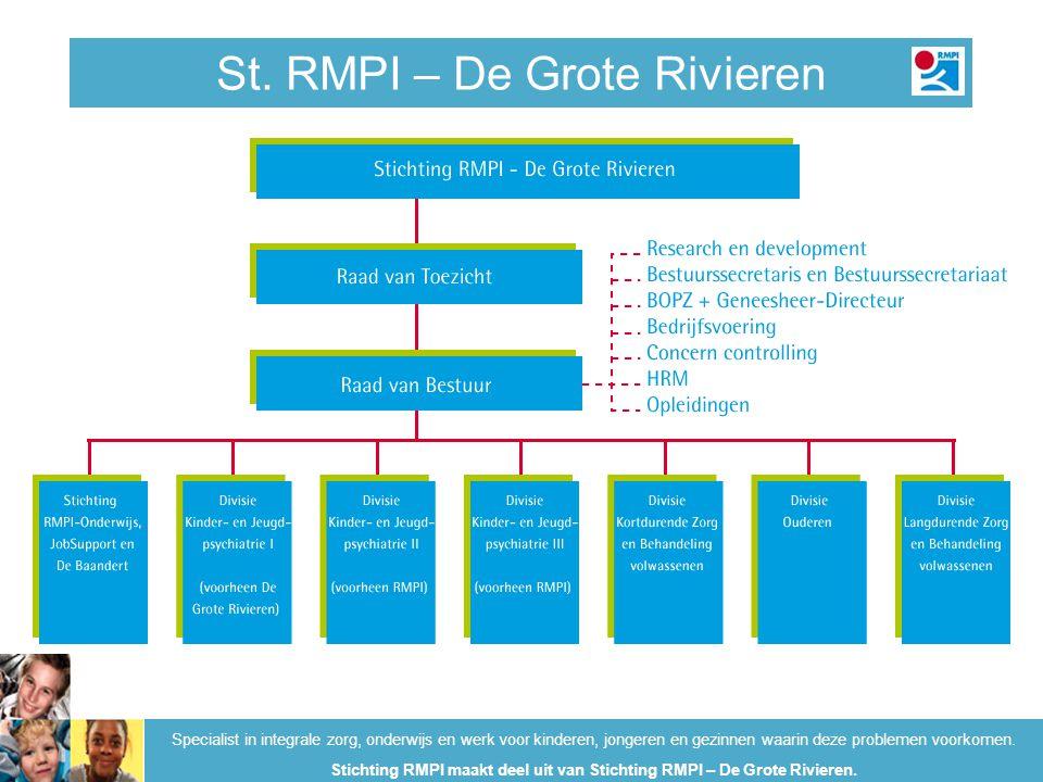 Kwaliteit RMPI-De Grote Rivieren Specialist in integrale zorg, onderwijs en werk voor kinderen, jongeren en gezinnen waarin deze problemen voorkomen.