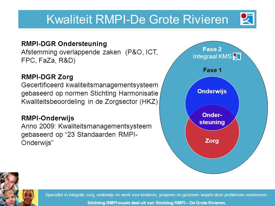 Kwaliteit RMPI-Onderwijs Specialist in integrale zorg, onderwijs en werk voor kinderen, jongeren en gezinnen waarin deze problemen voorkomen.