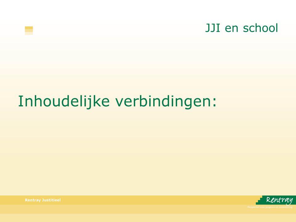 JJI en school Inhoudelijke verbindingen: