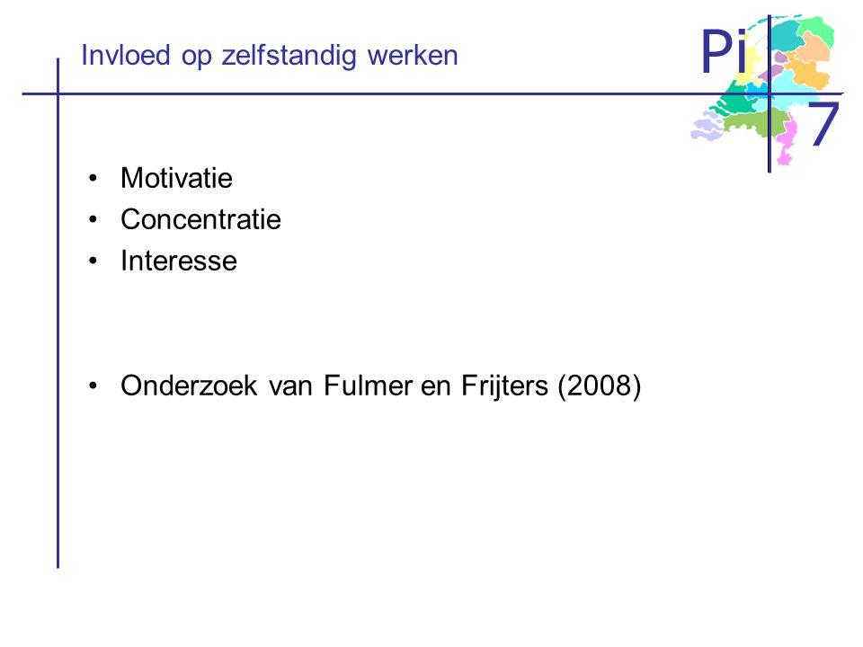 Pi 7 Het onderzoek Kun je motivatie en concentratie vergroten door aanpassingen te maken in het leermateriaal?