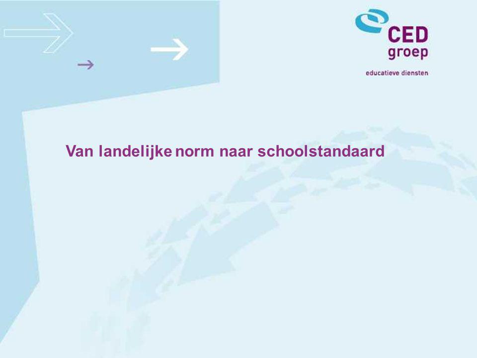 Van landelijke norm naar schoolstandaard