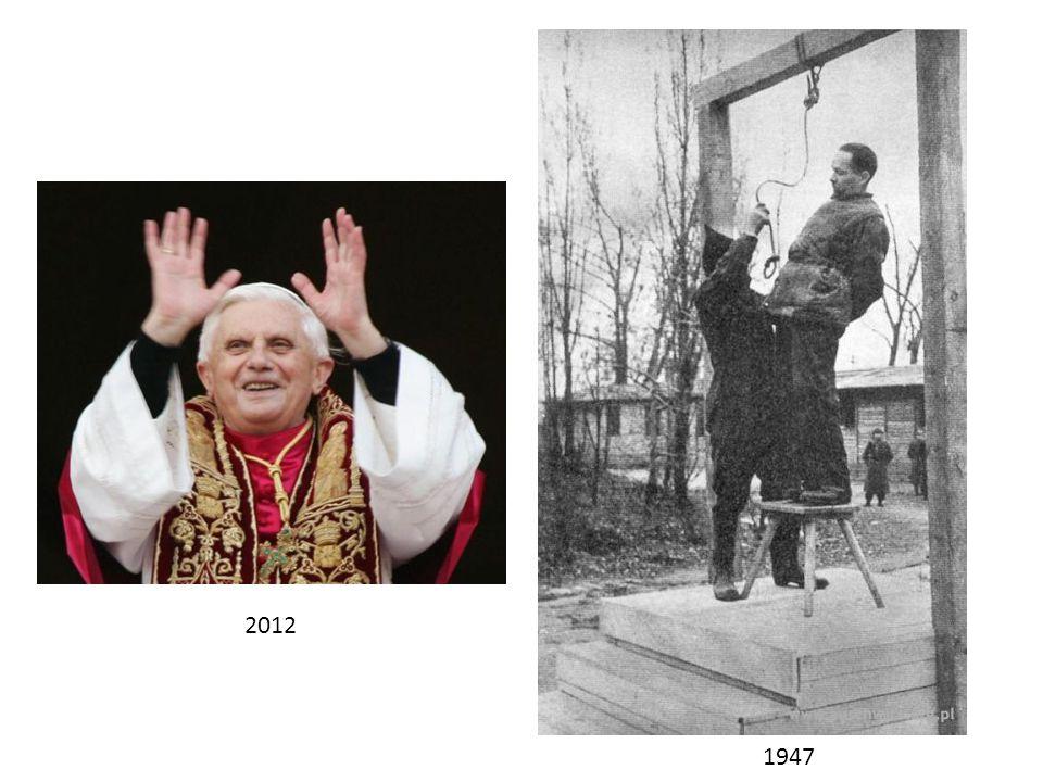 Joseph Aloisius Ratzinger Rudolf Höss (1927 – …) (1900 – 1947)