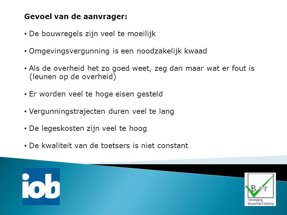 Branchevereniging: Vereniging BouwPlanToetsing: Initiatief oprichting 2008 - Bouwbeurs 2010 definitief opgericht – thans 9 leden (allen gecertificeerd) Platform m.b.t.