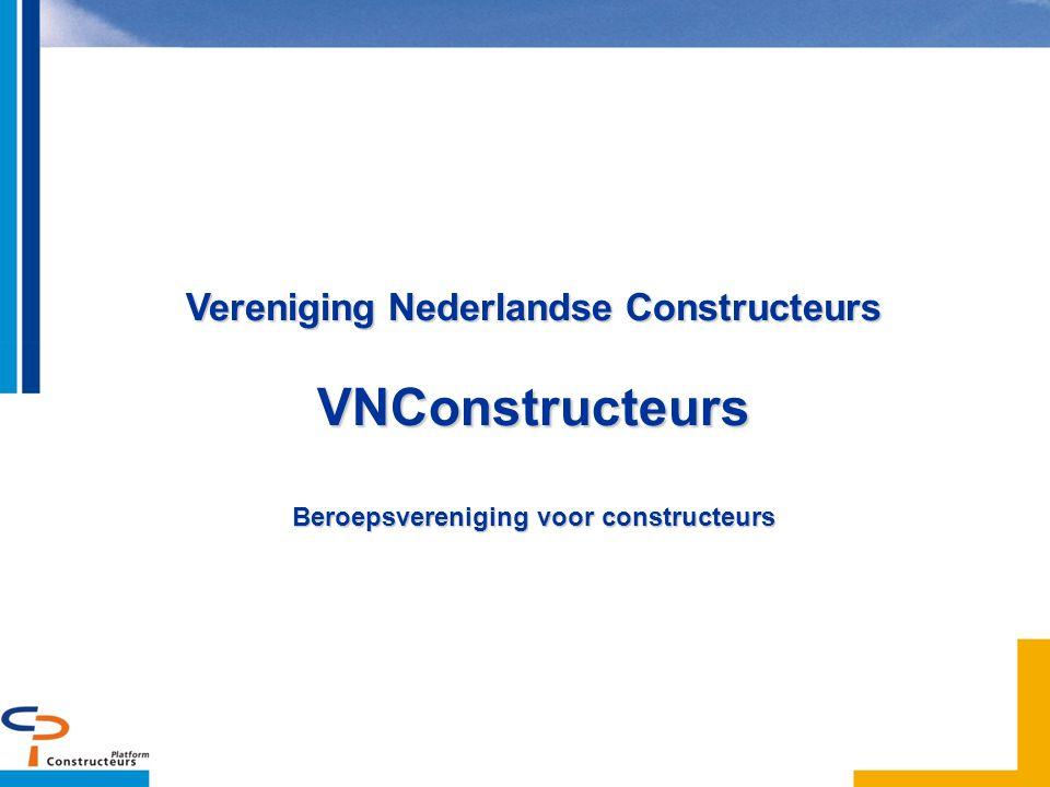 2.2 Versterken ondernemerschap Voorstel oprichting VNConstructeurs