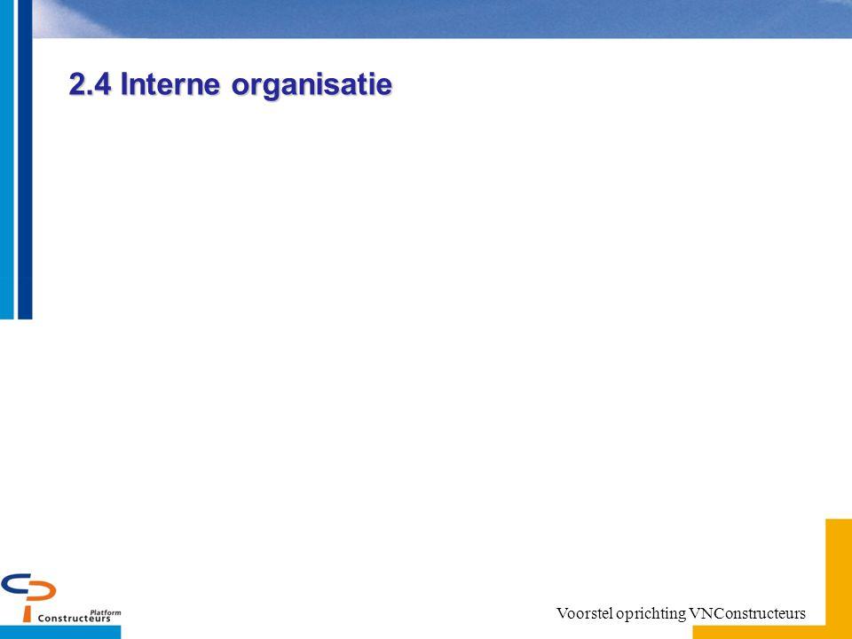 2.4 Interne organisatie Voorstel oprichting VNConstructeurs