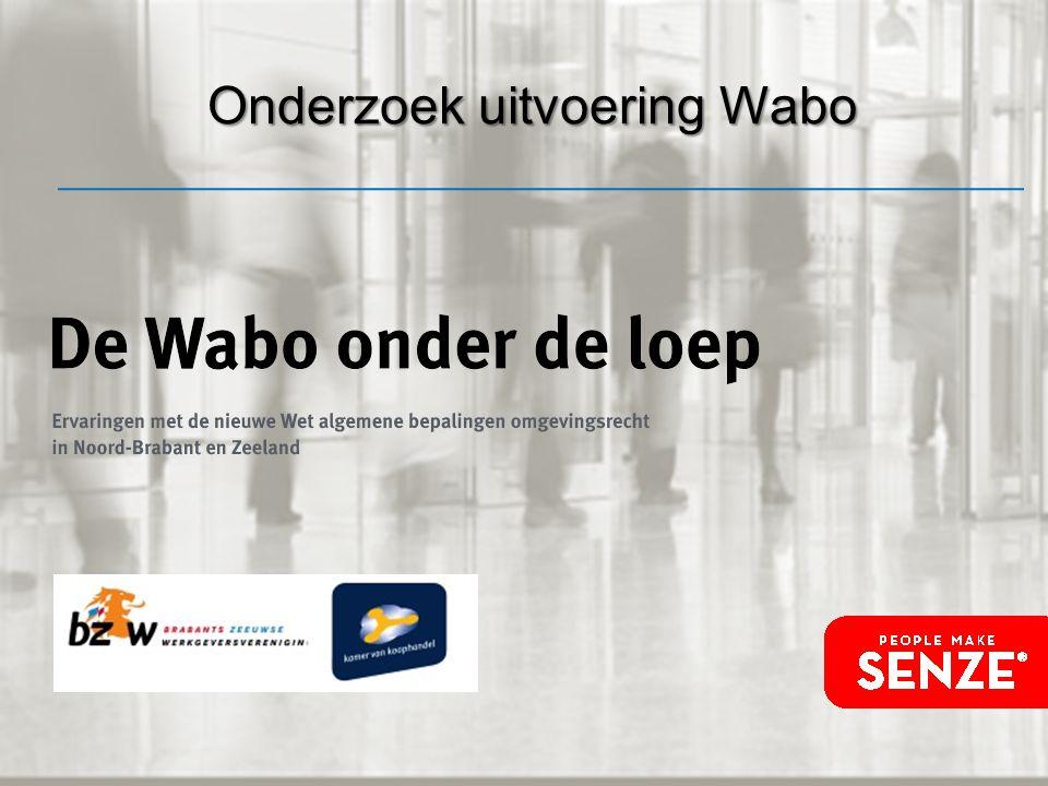 Onderzoek uitvoering Wabo