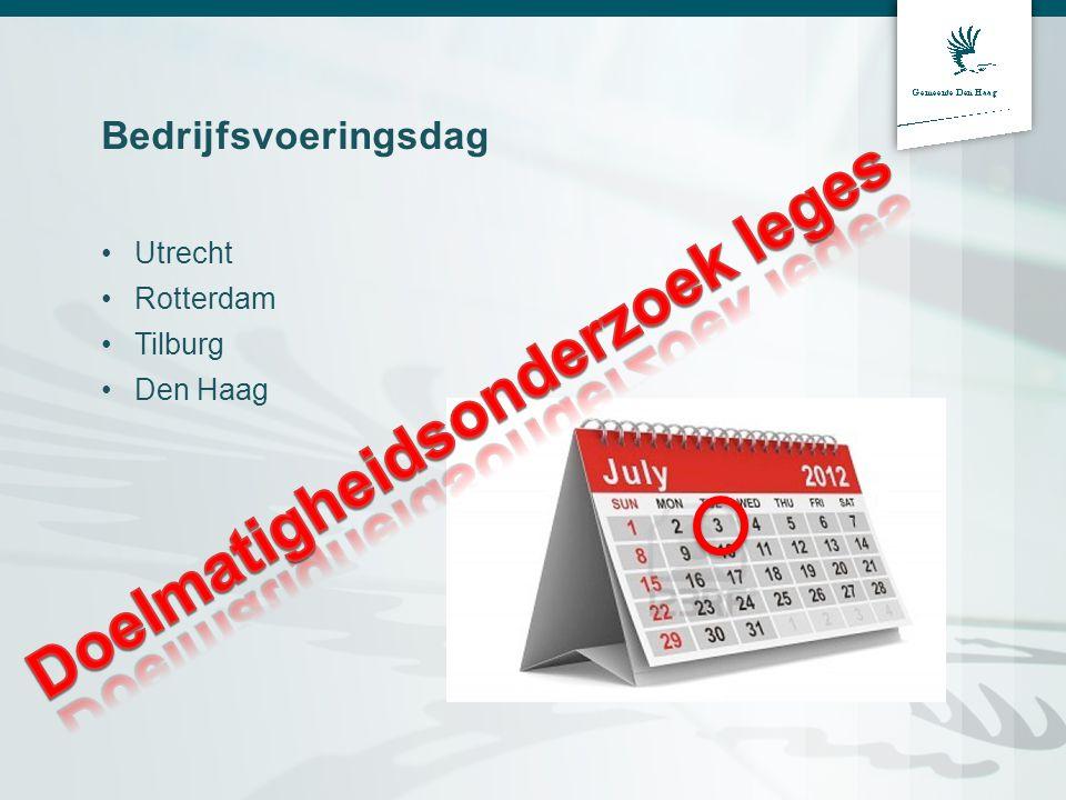 Bedrijfsvoeringsdag Utrecht Rotterdam Tilburg Den Haag