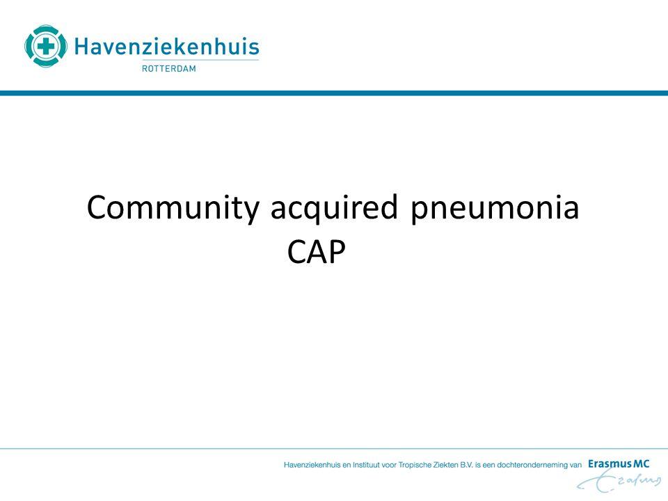 CAP en NIV Patiënten met COPD en pneumonie profiteren van NIV door Minder aantal intubaties Verkorting van de IC-ligduur (Confalionieri et al, 2005) Bij succes van NIV is letaliteit laag, bij noodzaak voor intubatie hoog (Jolliet et al, 2001)
