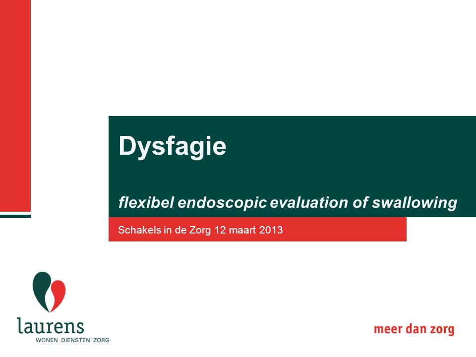 Dysfagie flexibel endoscopic evaluation of swallowing Schakels in de Zorg 12 maart 2013