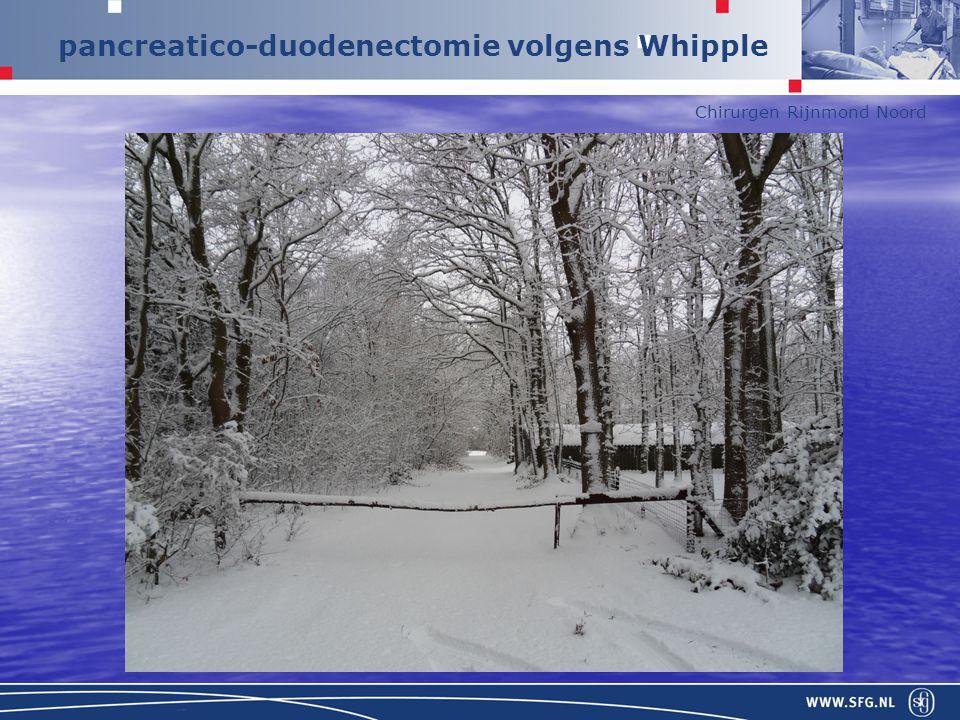 Chirurgen Rijnmond Noord pancreatico-duodenectomie volgens Whipple Whipple distale maagresectie/antrectomie duodenectomiepancreaskopresectie distale choledochusresectie cholecystectomie
