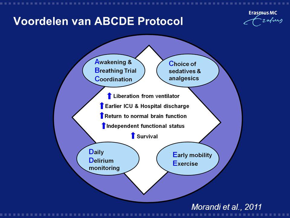 Voordelen van ABCDE Protocol Morandi et al., 2011