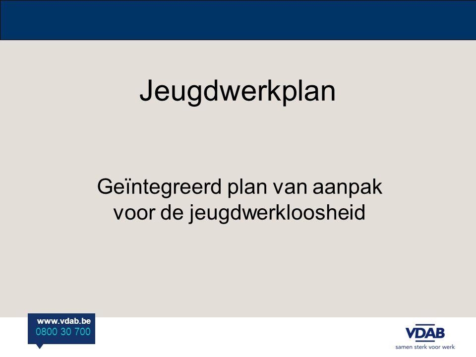 www.vdab.be 0800 30 700 Timing 1/01/08: start jeugdwerkplan met laag en middengeschoolden (voor O-VL.