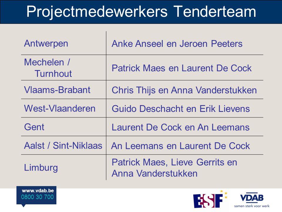 www.vdab.be 0800 30 700 AntwerpenAnke Anseel en Jeroen Peeters Mechelen / Turnhout Patrick Maes en Laurent De Cock Vlaams-Brabant Chris Thijs en Anna