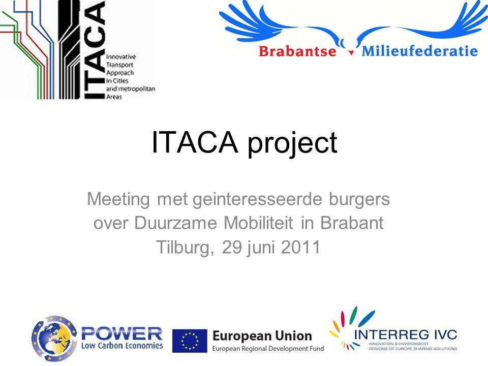 ITACA project Meeting met geinteresseerde burgers over Duurzame Mobiliteit in Brabant Tilburg, 29 juni 2011