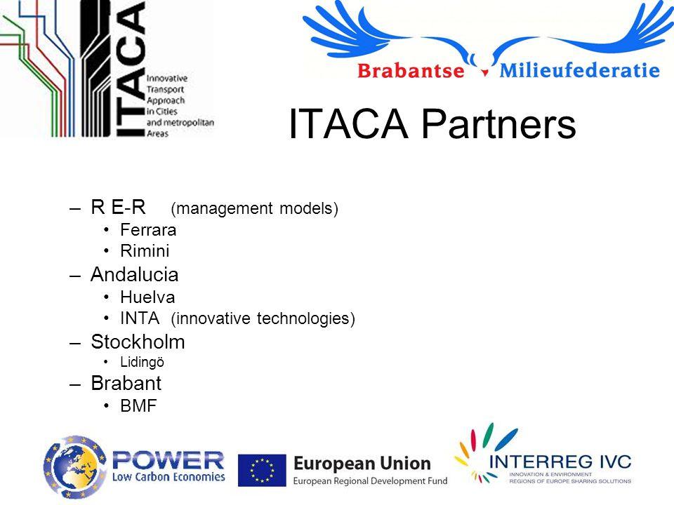 ITACA Partners –R E-R (management models) Ferrara Rimini –Andalucia Huelva INTA (innovative technologies) –Stockholm Lidingö –Brabant BMF
