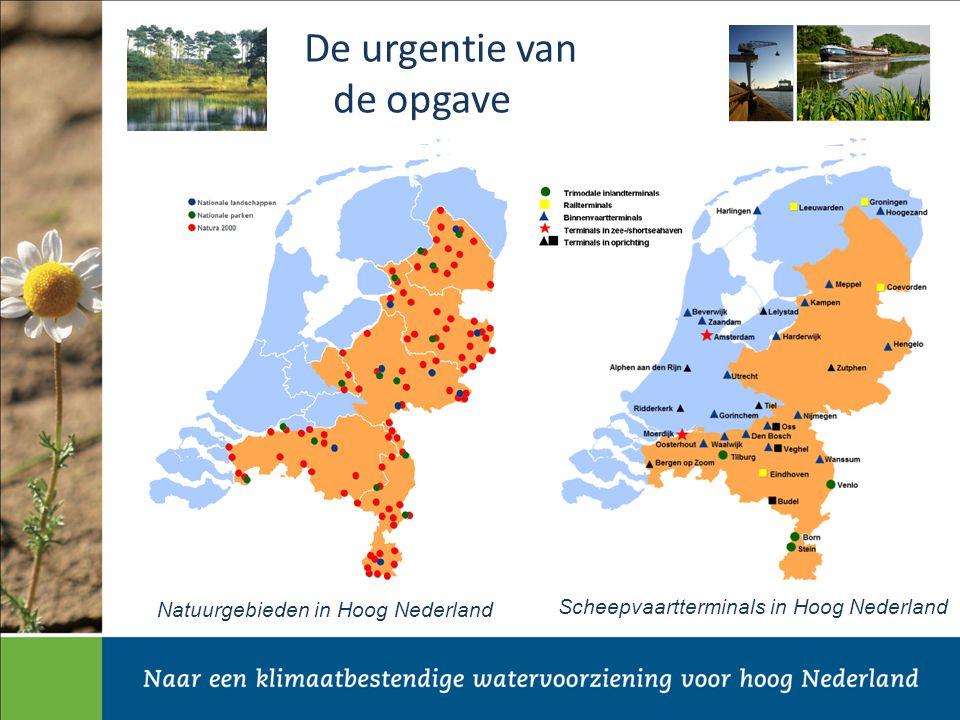 Scheepvaartterminals in Hoog Nederland De urgentie van de opgave Natuurgebieden in Hoog Nederland
