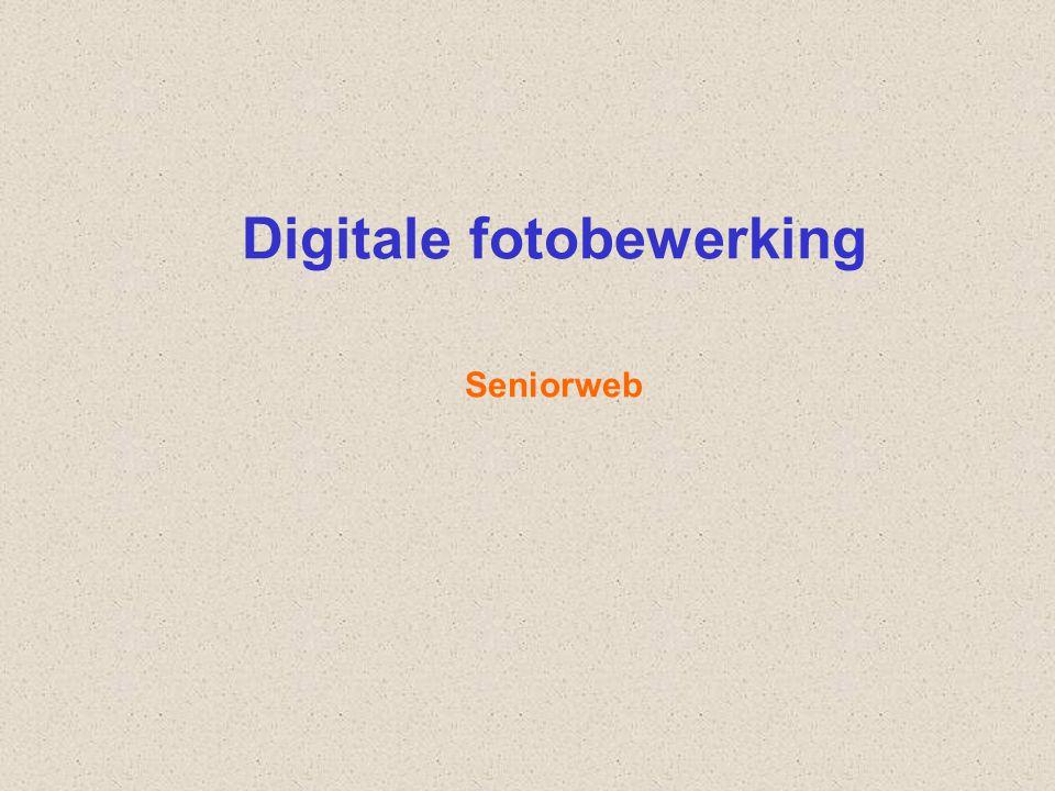 Digitale fotobewerking Seniorweb
