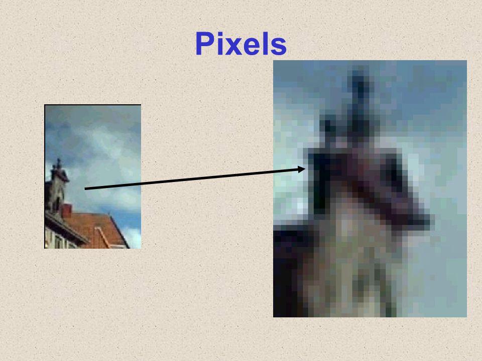 Lage resolutie fotocamera: bijvoorbeeld 640 x 480 (300.000 pixels) Hoge resolutie fotocamera: bijvoorbeeld 3264 x 2448 = 8 megapixels (miljoen) pixels; en hoger tot meer dan 20.