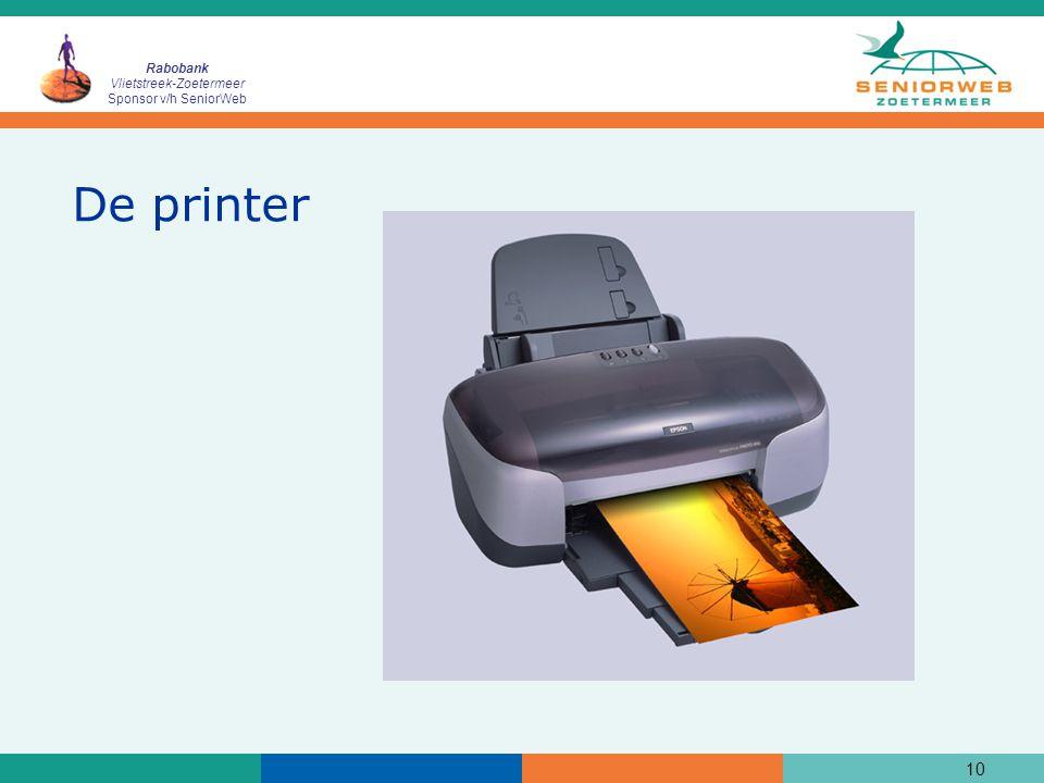 Rabobank Vlietstreek-Zoetermeer Sponsor v/h SeniorWeb 10 De printer