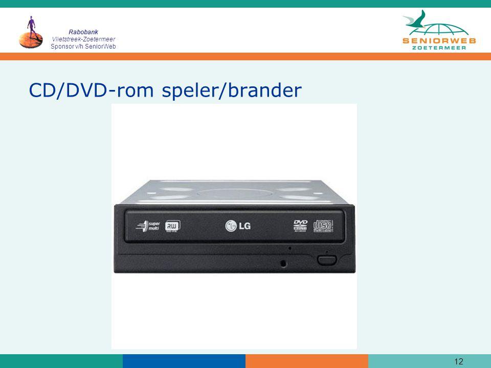 Rabobank Vlietstreek-Zoetermeer Sponsor v/h SeniorWeb 12 CD/DVD-rom speler/brander