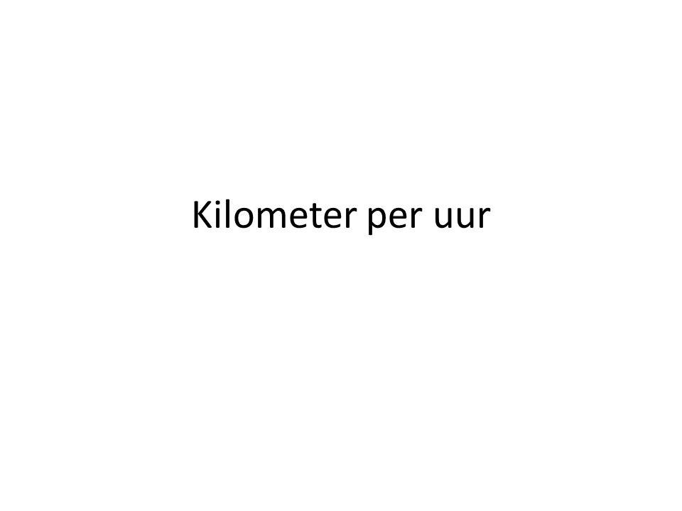 Kilometer per uur