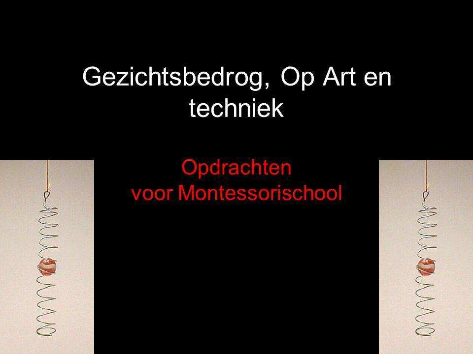 Gezichtsbedrog, Op Art en techniek Opdrachten voor Montessorischool