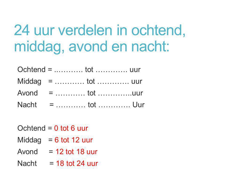 Nog meer oefenen…. http://www.kedg.nl/mont/klok.swf