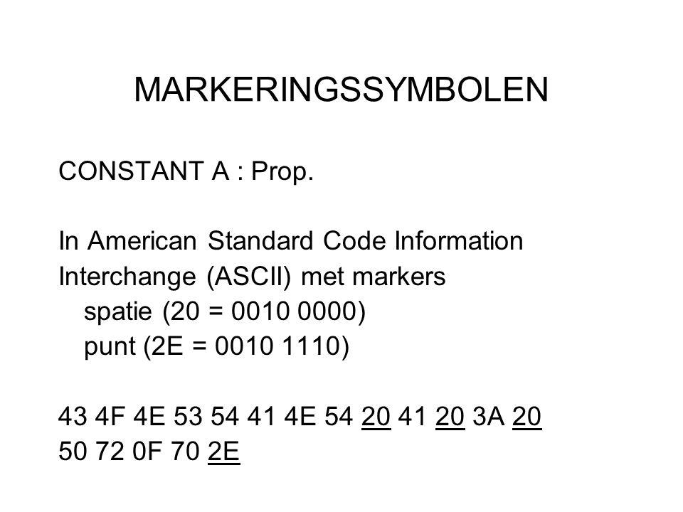 MARKERINGSSYMBOLEN CONSTANT A : Prop.