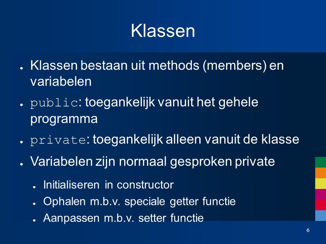 7 Klassen int Box::getLength( ) { return length; } void Box::setLength( int l ) { length = l; }