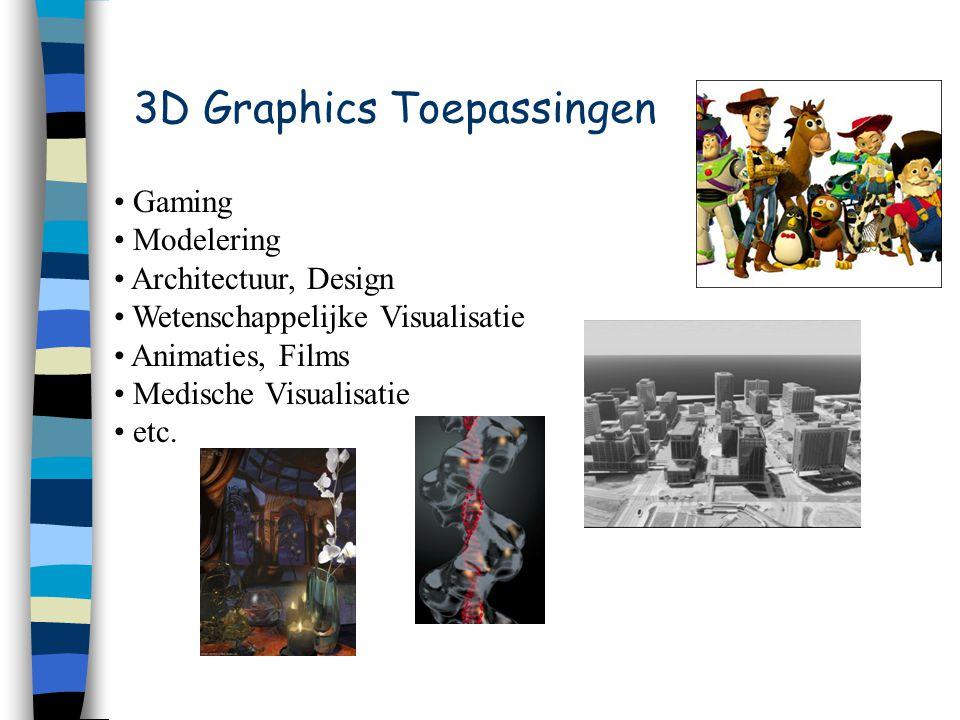 Gaming Modelering Architectuur, Design Wetenschappelijke Visualisatie Animaties, Films Medische Visualisatie etc.