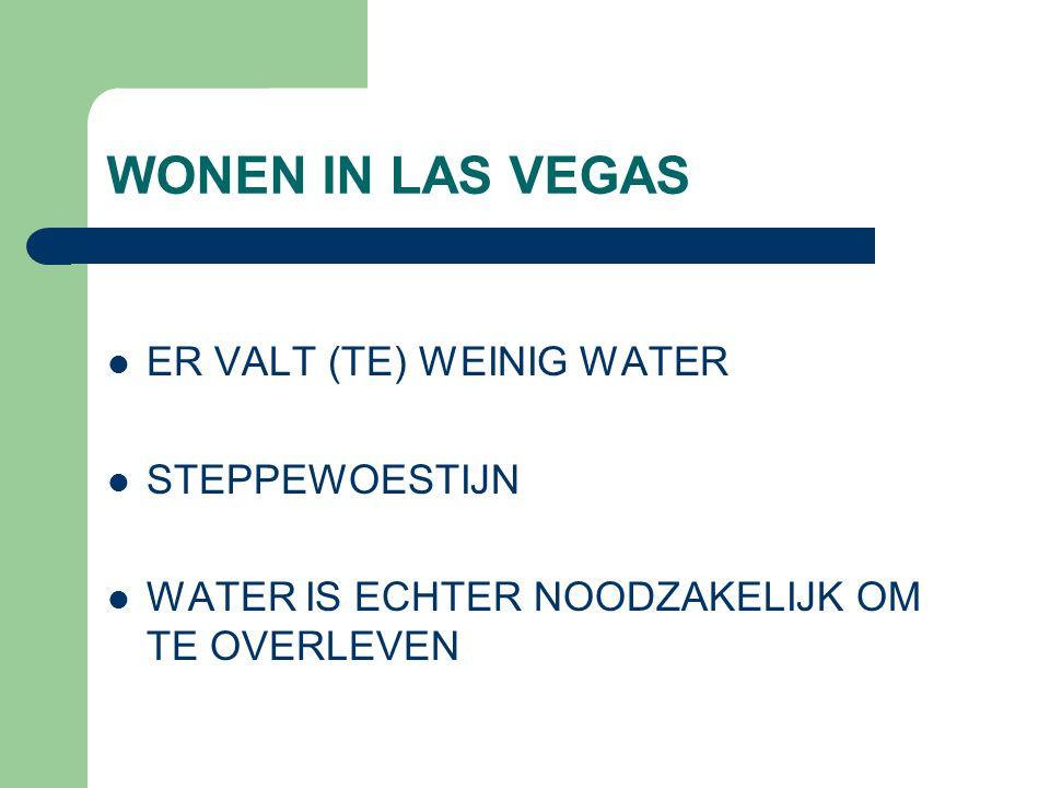 WONEN IN LAS VEGAS ER VALT (TE) WEINIG WATER STEPPEWOESTIJN WATER IS ECHTER NOODZAKELIJK OM TE OVERLEVEN