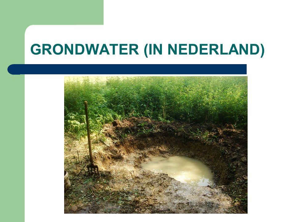 GRONDWATER (IN NEDERLAND)