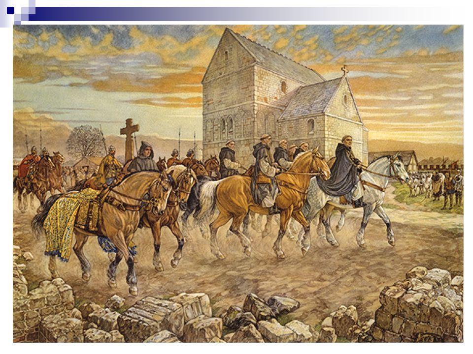 UTRECHT EN HET CHRISTENDOM 690 N.CHR. DE MONNIK WILLIBRORD HEEFT EEN MISSIE.