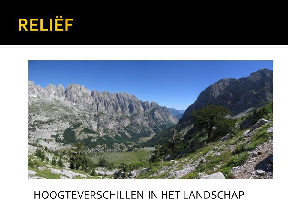 HOOGTEVERSCHILLEN IN HET LANDSCHAP