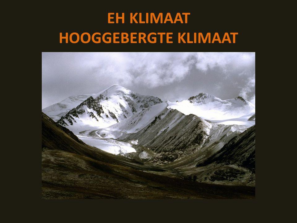 EH KLIMAAT HOOGGEBERGTE KLIMAAT