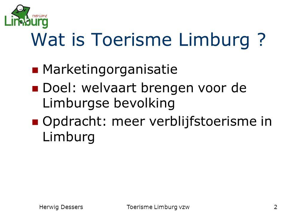 Herwig DessersToerisme Limburg vzw2 Wat is Toerisme Limburg .