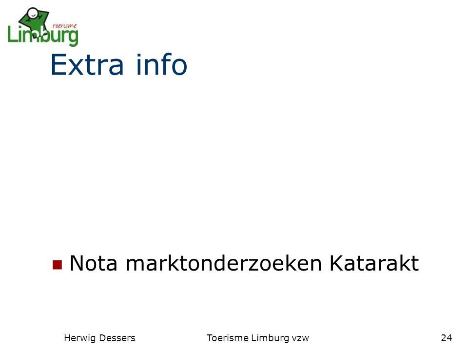 Herwig DessersToerisme Limburg vzw24 Extra info Nota marktonderzoeken Katarakt